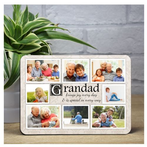 Personalised Grandad Sentiment Wood Photo Panel F26